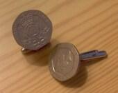 20p coin cufflinks