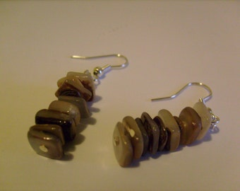 SALE mother of pearl shell earrings