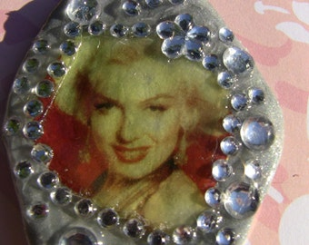 SALE Marilyn Monroe silver ornament