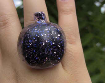 purple harvest resin pumpkin ring