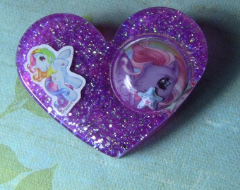 big heart barrette