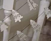 Christmas Tree Paper Garland made with antique music sheets