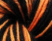 Self-striping yarn black tiger