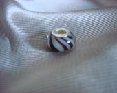 Zebra Murano Glass Bead