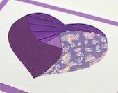 Purple Heart Iris Fold Card
