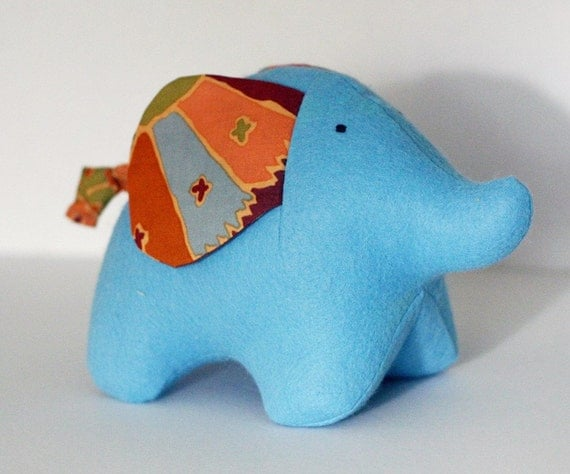 Blue and Brown Elephant