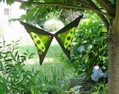 Glass Garden Art Fused Birdwing Butterfly Box Kite