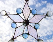 A Falling Snowflake  - Stained Glass Sun Catcher