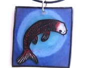 RESERVED For YarnGirl - Koi or Carp Necklace