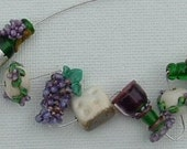 Wine and Cheese Party Lampwork Beads