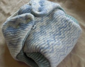 Wool Fleece Diaper Cover, Ric Rac Stripes