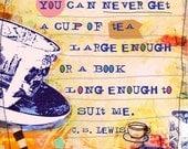 Tea and a Book Card 300-08 (Set of 2)