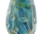 Butterfly Wings Elemental Lampwork Bead - Focal - Teardrop - Pear
