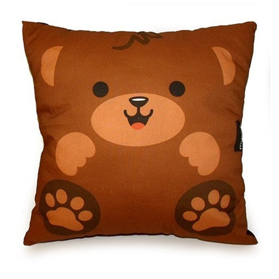 FREE SHIPPING - Deluxe Pillow - Happy Bear