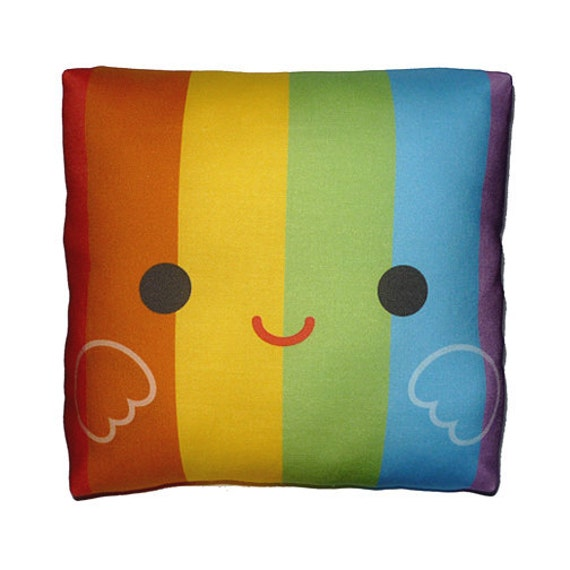 Mini Pillow - Happy Rainbow