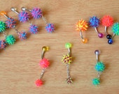 15 UV Soft Spike Belly Rings