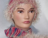 Summer Cotton Knitted hat and 6 foot scarf