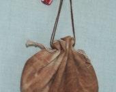 SMALL BROWN AMULET BAG
