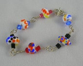 Bead Box Blowout - Lampwork bracelet special price