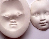 Art Doll Face 11 Polymer Clay Push Mold