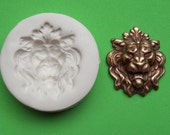 Lion Head a Crown King Cat -   polymer clay mold