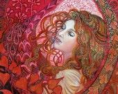 Aphrodite - Art Nouveau Love Goddess 8x10 Print