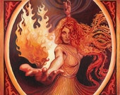 Brigid Imbolc Celtic Pagan Art Inspiration Goddess 8x10 Print