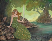 The Lady of the Lake - Medieval Goddess Art 5x7 Card
