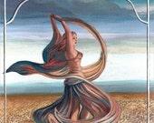 Dance of the Seven Veils 8x10 Fine Art Print Pagan Mythology Bellydance Goddess Art
