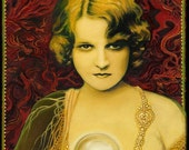 Gypsy Queen Psychic Goddess Art 5x7 Blank Greeting Card