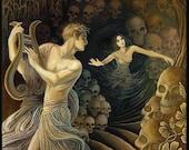 Orpheus and Eurydice Greek Mythology Original Painting