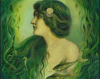 The Nereid - Art Nouveau Mermaid Goddess 8x10 Print