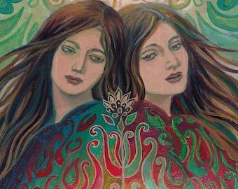 Mystic Sisters - Mythology Goddess Art 8x10 Print