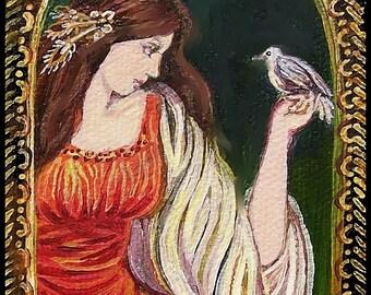 Charge of the Mistress - Renaissance Goddess Art 5x7 Card