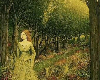 Morgan Le Fay 8x10 Fine Art Print Pagan Mythology Medieval Witch Fairy Goddess Art