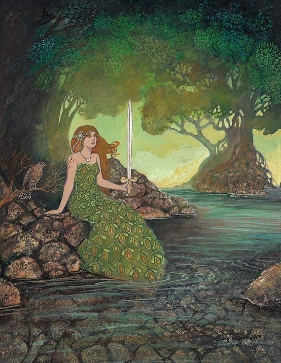 The Lady of the Lake 11x14 Medieval Goddess Art Print