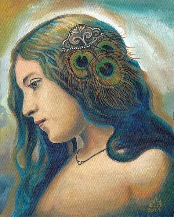 Eidyia - Ocean Goddess Mermaid Portrait 8x10 Print