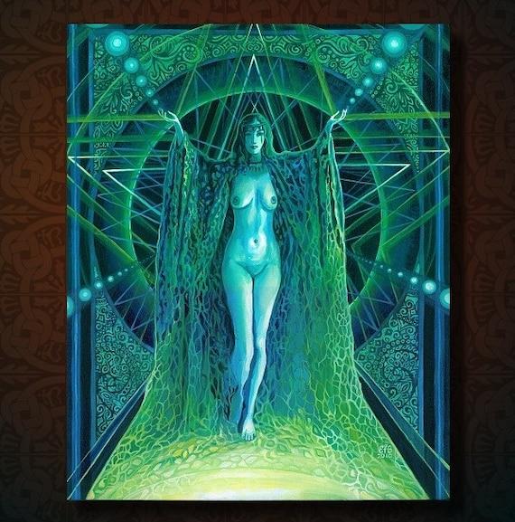 Lilith - Pagan Witch Goddess Original Painting