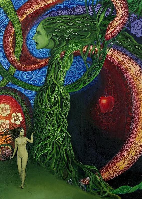 Eve - Garden of Eden Mythology Goddess 5x7 Greeting Card