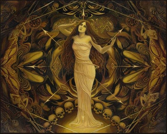 Goddess Art Eris Discordia Goddess of Chaos 11x14 Print