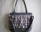 Ruffled Sling - Estelle in Taupe