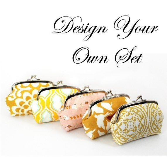 Bridal Clutch Set - Design Your Own - Bridal Party Clutches - RESERVED for brittjocarr