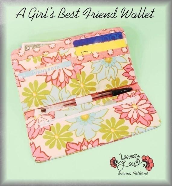 A Girls Best Friend Wallet - Sewing Pattern by Jenna Lou Designs -