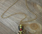 Hand Wirewrapped Deco Necklace