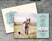 Save The Date Wedding Announcement Postcard Design - DIY Printables