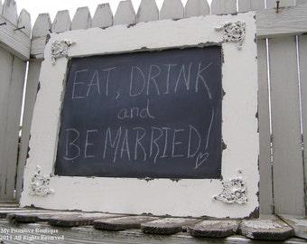 Vintage CHALKBOARD, Wedding PHOTOBOOTH PROPS, Photographer, Wedding Planner, Home Decor