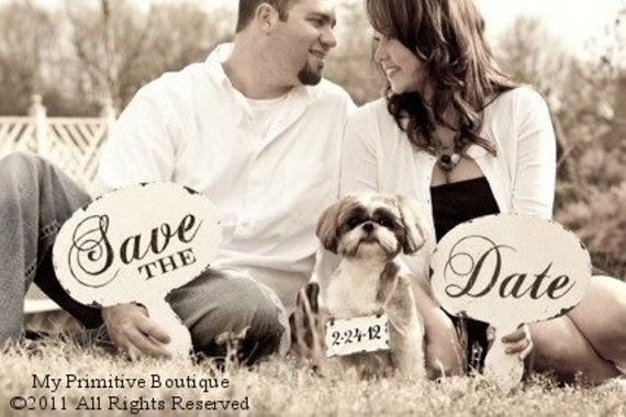 Save The Date Signs. Photo Props. Rustic Wedding. Chalkboard Sign. Save The Date Props. Photo Booth Props. Shabby Chic Wedding. Vintage.