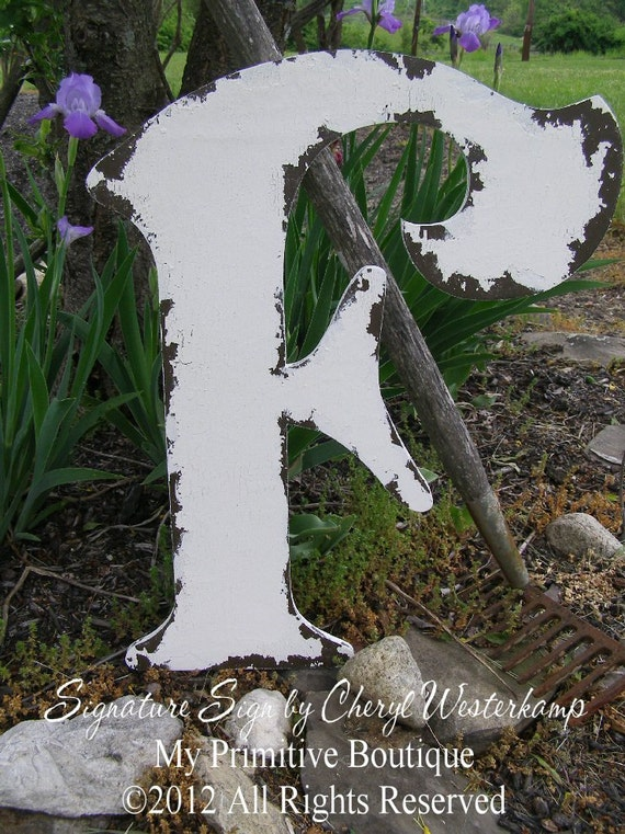 LARGE WOODEN LETTERS | Letter F | Painted Letters | Guest Book | Wedding Decoration | Wedding Signs | Distressed Letters | Photo Props
