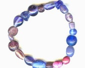 Lavender and Blue Beaded Bracelet