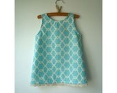 Lazy Days of Summer  Dress -  Size 2T - Turquoise Sundress